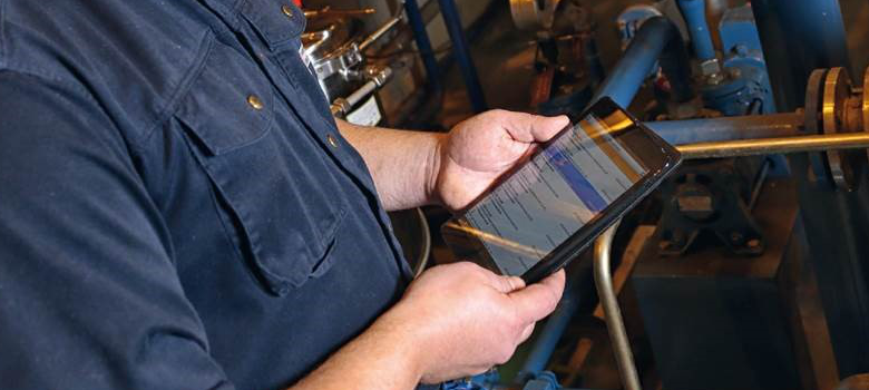 Using an ipad or a smartphone for maintenance